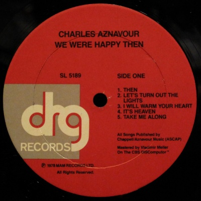 Charles Aznavour - We Were Happy Then