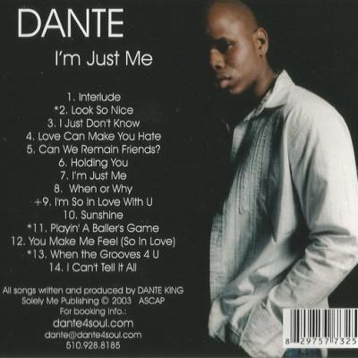 Dante - I'm Just Me (Album)