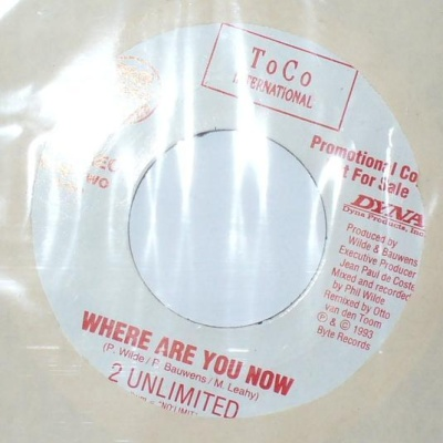 2 Unlimited - Where Are You Now (Promo)