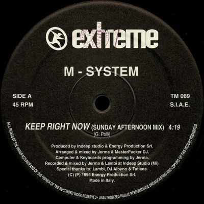 M-SYSTEM - Keep Right Now
