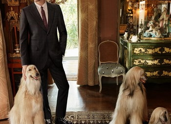Том Хидлстон снялся в рекламе Gucci вместе с собаками