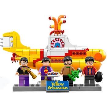 Lego выпускают набор Beatles и жёлтую подводную лодку
