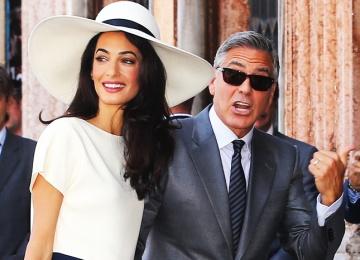 Супруга Джорджа Клуни беременна двойней