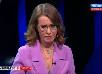 Ксению Собчак довели до слез на дебатах  у Владимира Соловьёва