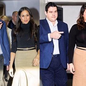 В сети найдены толстые двойники принца Гарри и Меган Маркл