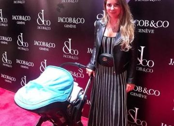 Галина Юдашкина берет новорожденного сына на светские мероприятия