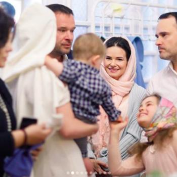 Мария Кожевникова показала фото крещения младшего сына