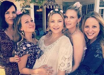 Кейт Хадсон отпраздновала скорое рождение дочки