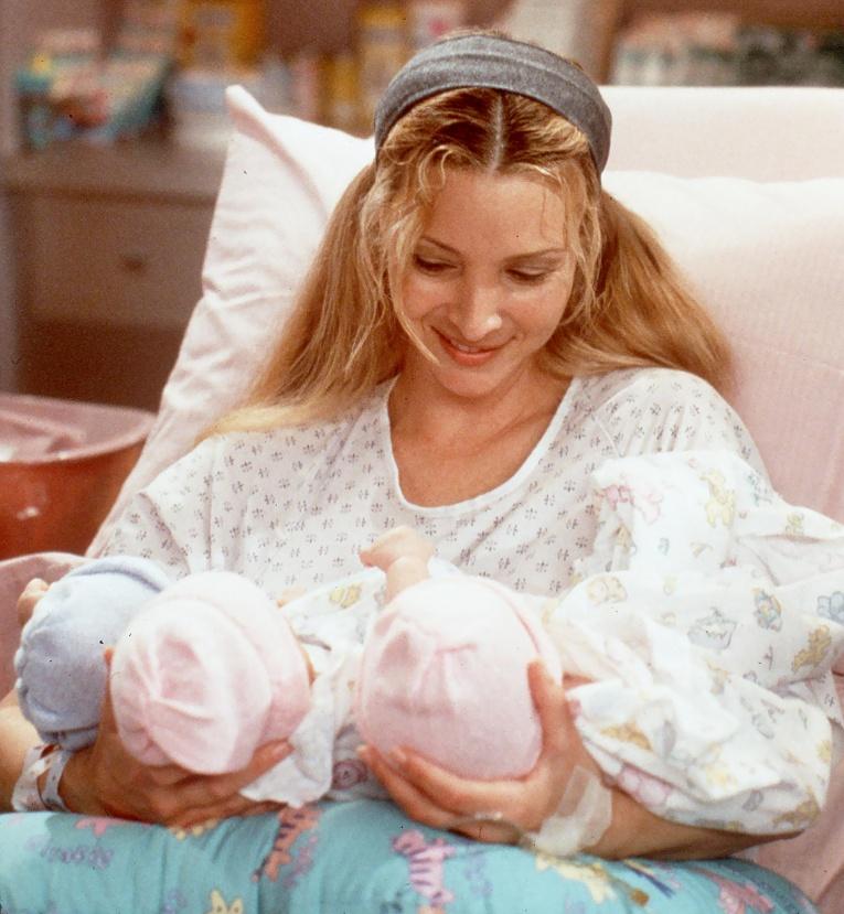 """Малышей было больше: как снимали """"Друзей"""", когда Фиби родила тройню"""