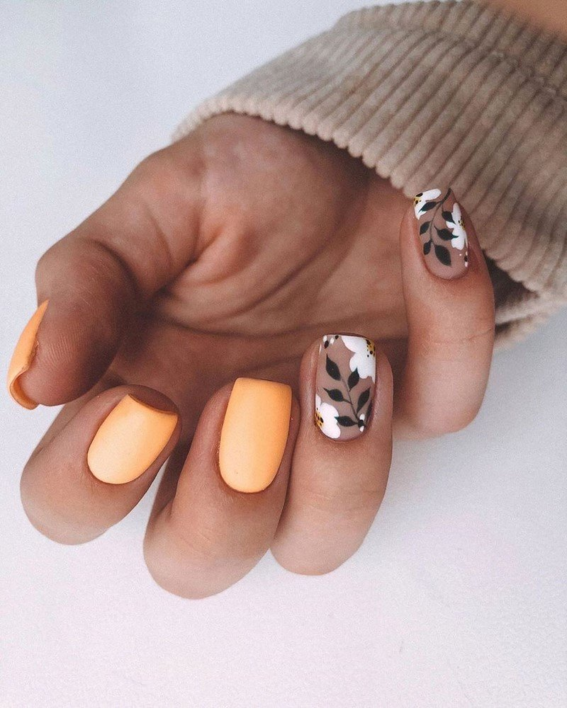 Идеи для модного осеннего дизайна ногтей
